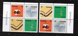 CANADA Scott # 582-5** VF MINT NH INSCRIPTION BLOCKS  (LG-408) - $16.78