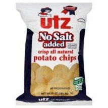 Utz Potato Chips, No Salt Added, 10 oz, (pack of 3) - $22.76