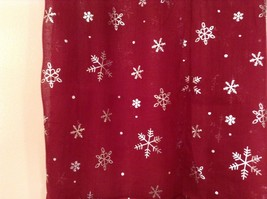 Metallic snowflake overlay print holiday winter scarf in choice of colors image 4