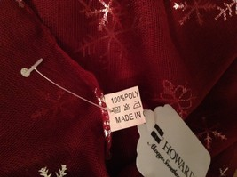 Metallic snowflake overlay print holiday winter scarf in choice of colors image 5