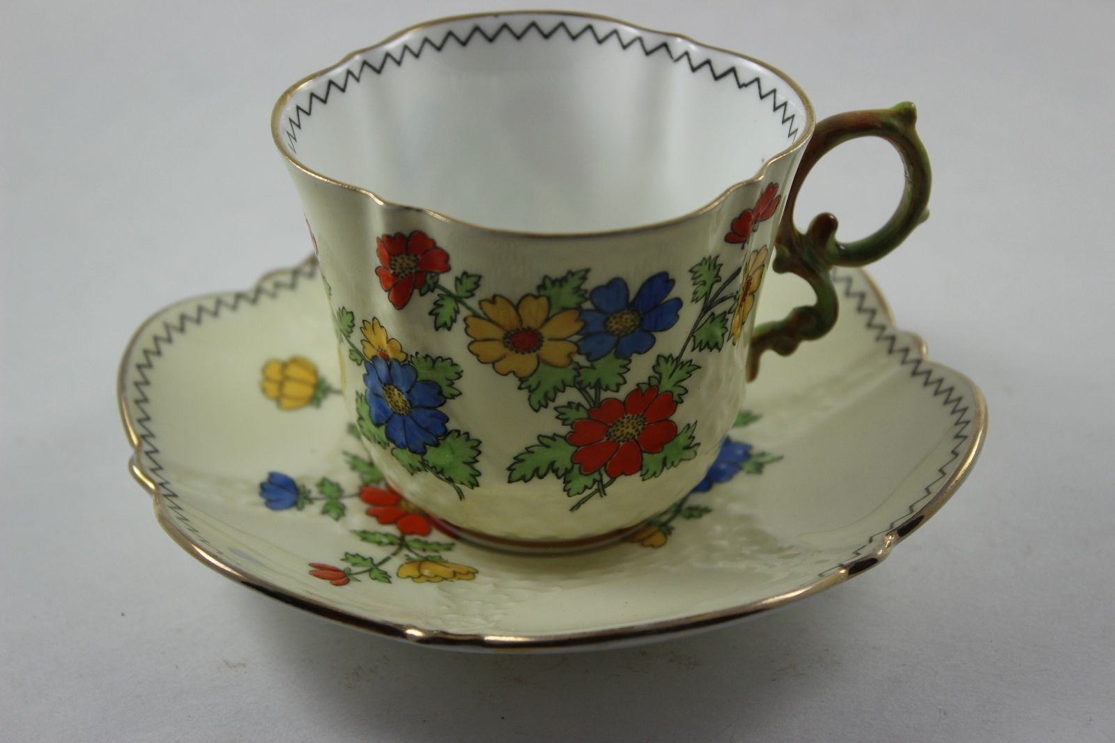 Vintage Aynsley England Tea Cup and Saucer Floral Design China