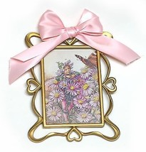 Heart Gold Frame Flower Fairy Girls DecorCicely MaryMIchaelmas Daisy P... - €10,50 EUR