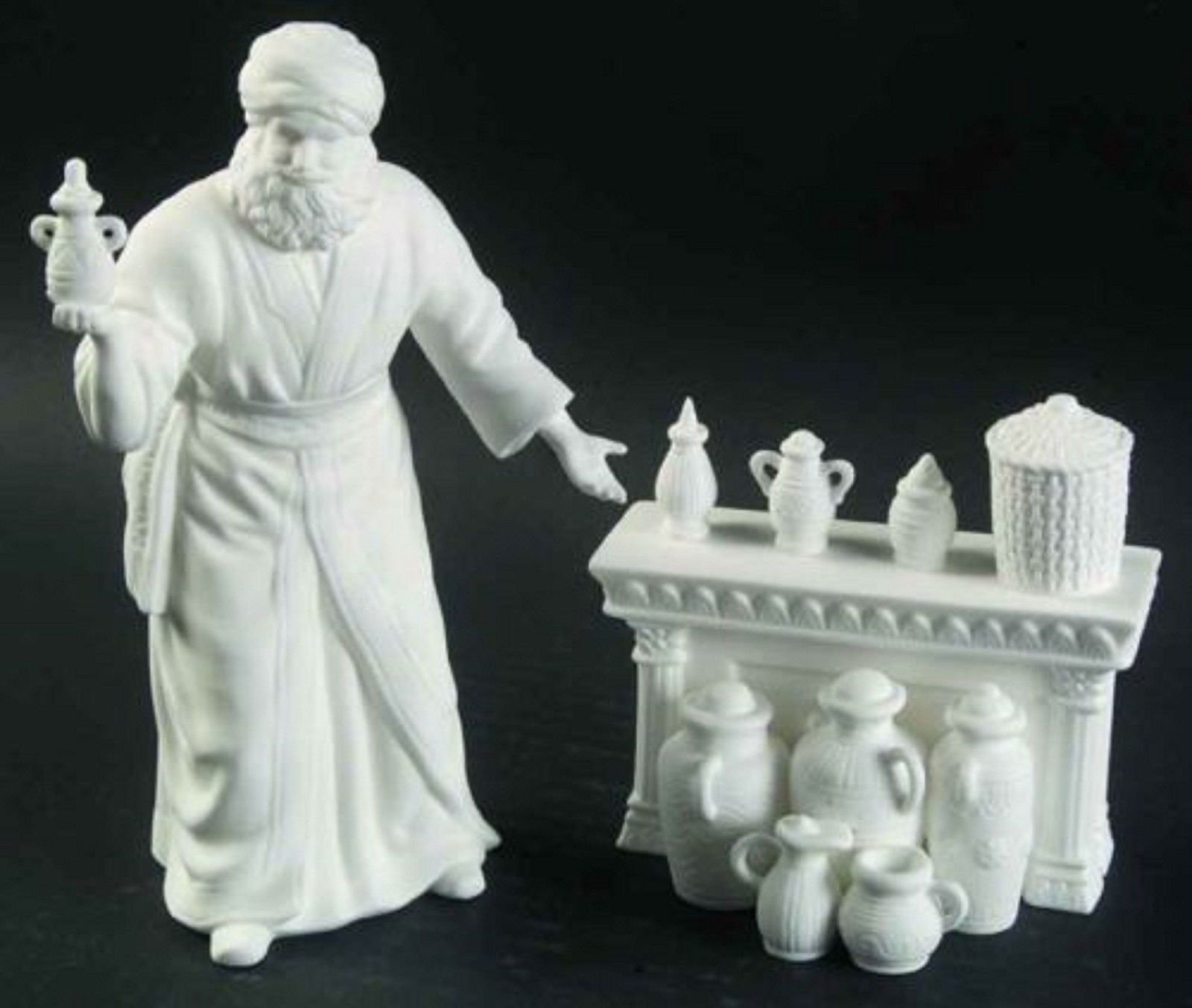 Lenox White Perfume Seller Figurine Bone Nativity At The