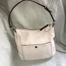 Ivory Leather Coach Messenger Bag  - $89.99