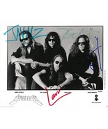 METALLICA FULL BAND SIGNED PHOTO 8X10 RP AUTOGRAPHED ALL MEMBERS HARDWIRED ! - €17,18 EUR