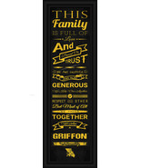 "Missouri Western State University Griffon - 24x8 ""Family Cheer"" Framed P... - $38.50"