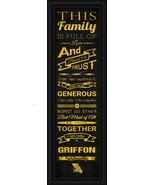 "Missouri Western State University Griffon - 24x8 ""Family Cheer"" Framed P... - $39.95"
