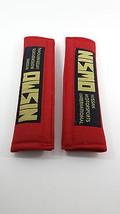 Velcro Universal Red Gold Seat Belt Shoulder Pads Safe Sound - $12.82