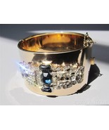 FABULOUS Vintage ART DECO Rhinestone Clamper Br... - $356.25