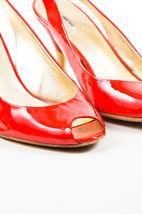 Slingback Miu Leather Toe Red SZ Patent Miu 36 and Peep Metallic Pumps Gold z1qUzOw
