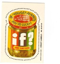 """1979 FLEER CRAZY LABELS """"IF?"""" #36 STICKER CARD ONLY 99 CENTS. - $0.99"""