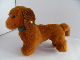 Steiff dog dachsund dackel small button stuffed animal made in Germany 2450 - $46.54