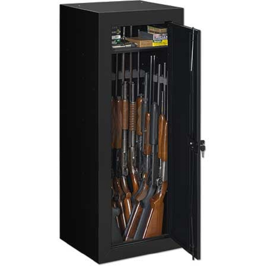 Stack on 22 gun steel security cabinet with bonus door for Door organizer