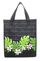 "Aloha Plumeria Small Insulated Tote Bag 8"" X 9"" - $12.82"