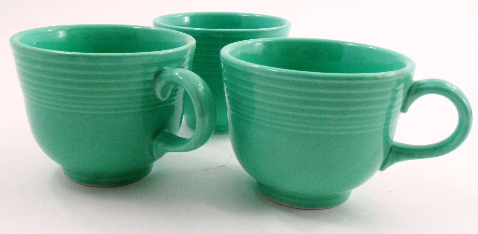 3 Clean EUC Homer Laughlin Fiesta Dinnerware Fiestaware Light Green Coffee Cups image 2