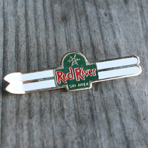 RED RIVER Vintage Ski Pin NEW MEXICO Skiing Travel NM FREE SHIPPING - $12.55