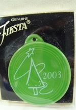 Fiesta-CHRISTMAS-Ornament-2003 Shamrock 2003 Tree Homer Laughlin Co HLC - $12.99