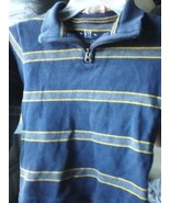 GAP 1/4 ZIPPERED SWEATER BLUE SIZE XS 4 - 5 MULTI-COLOR - $10.40