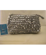 Frankie & Johnnie Silver Sequin Handbag - $8.00