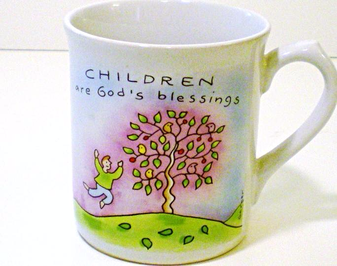 Primary image for Russ Occasion's Tea Coffee Mug, Children are God's Blessings