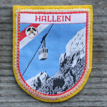 HALLEIN Vintage Ski Patch AUSTRIA Skiing Travel SALZBURG Felt FREE SHIPPING - $13.50
