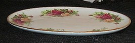 ROYAL ALBERT BONE CHINA  OLD COUNTRY ROSE PLATTER GOLD TRIM ENGLAND 1962 - $23.89