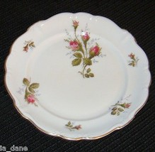 Rosenthal Moss Rose Salad Desert Pompadour Germany 6 Plates - $17.64