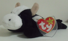 Ty Beanie Babies NWT Daisy the Black and White Cow Retired - $12.95