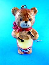 "Vintage Enesco Lucy & Me 2.75"" Teddy Bear Drummer boy Christmas ornament... - $6.23"