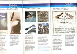 FRANKFURT MAIN Airport - Historical Brochure 1983 - $2.80