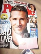 PEOPLE MAGAZINE FEBRUARY 22 2016 RYAN REYNOLDS SEXIEST DAD ALIVE TERESA ... - $9.99