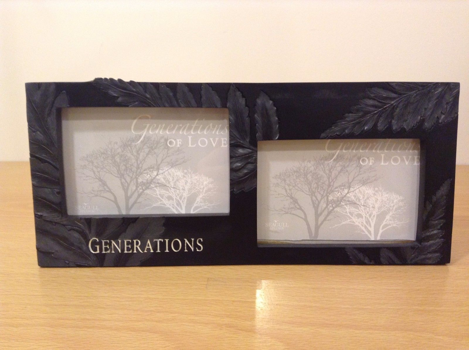 Generations of Love Block Table Wall Double Picture Frame