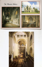 POSTCARDS - St Albans Abbey, Exterior and Interior Views  UK - $2.38