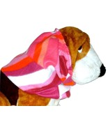 Pink Coral Purple Geometric Print Fleece Dog Snood by Howlin Hounds Size... - $11.50