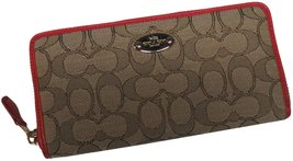 Coach Outline Signature Accordian Zip Wallet Cl... - $229.00