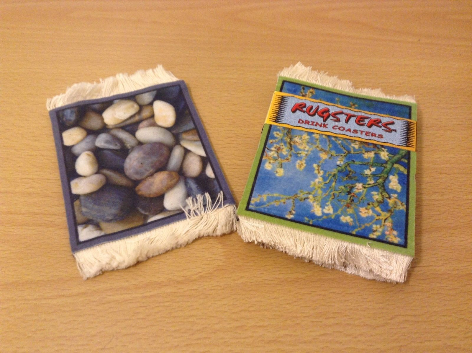 Rugsters Drink Coasters 4 Almond Tree Design + 1 Freebie Rug Like