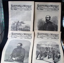 4 Issues July 7 11 18 25 1863 Harpers Weekly ReIssued Historic Newspapers