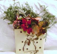 Snowman & Poinsettia Christmas  wreath Decor - $10.00