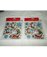 2 Deluxe Christmas Sticker Packages/Sheets Sant... - $7.91