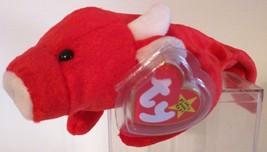 Ty B EAN Ie Babies – Tabasco The Bull – Retired Mwmt P.V.C. Pellets - $176.11