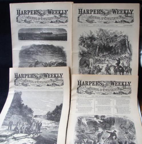 4 Issues September 5 12 19 26 1863 Harpers Weekly ReIssued Historic Newspapers