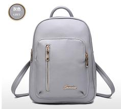 Free Shipping Women Leather School Backpacks Medium Fashion Backpacks K2... - $39.99