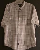 Calvin Klein J EAN S Rn 36009 - Short Sleeve Plaid Button Front Shirt - Men Sz: Xl - $16.13