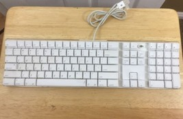 Apple Keyboard wired A1048 With Built In Web Cam White USB - $37.39