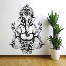 Elephant Ganesh Buddha  Vinyl Wall Art Decal (WD-0694) - $32.99