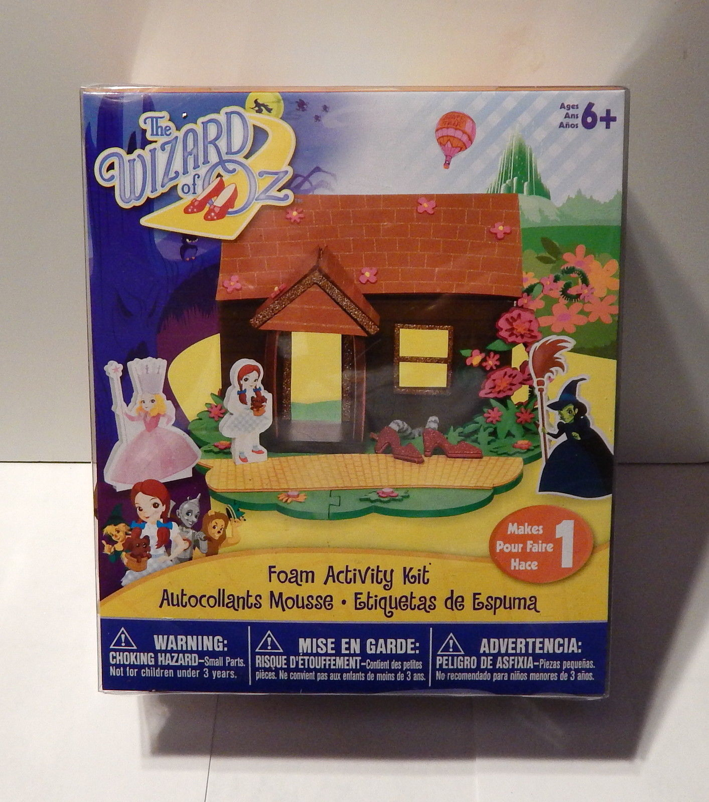 The Wizard Of Oz Foam Activity Kit 6+Dorothy's House 30 Foam Shapes Stickers 64B