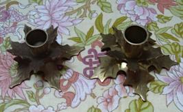 Brass GATCO Christmas HOLLY LEAF Candle Holder // Vintage Taper Candle Holder - $14.00