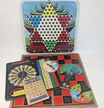Board Game Pieces Lot Vintage Room Decor Chinese Checkers Bingo  - $32.59