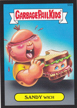 "2015 GARBAGE PAIL KIDS SERIES 1 BLACK CANVAS ""SANDY WICH"" #55b STICKER CARD - $1.00"