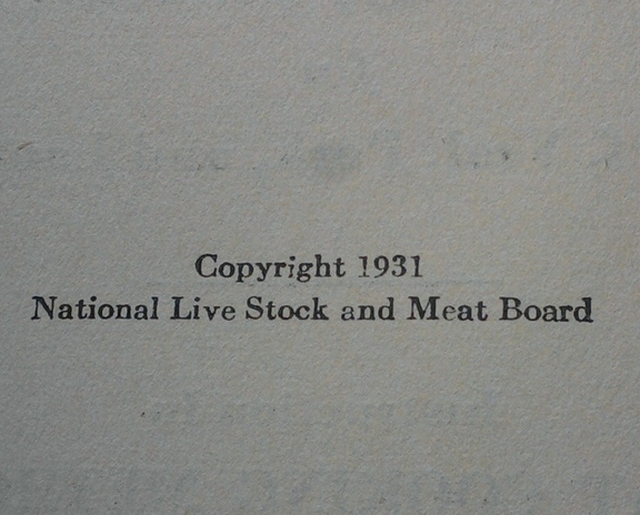 COOK BOOK - 1933 NEWTON PACKING CO - MEAT FOR YOUR TABLE